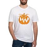 Grunge Pumpkin Fitted T-Shirt