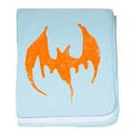 Grunge Bat baby blanket