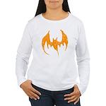Grunge Bat Women's Long Sleeve T-Shirt