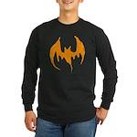Grunge Bat Long Sleeve Dark T-Shirt
