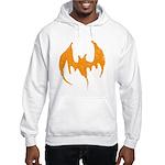 Grunge Bat Hooded Sweatshirt