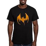 Grunge Bat Men's Fitted T-Shirt (dark)