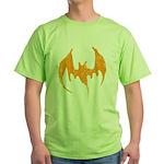 Grunge Bat Green T-Shirt