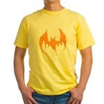Grunge Bat Yellow T-Shirt