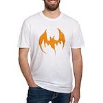 Grunge Bat Fitted T-Shirt