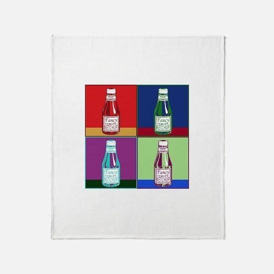Pop Art Ketchup Throw Blanket