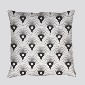 Black and White Art Deco Pattern Everyday Pillow