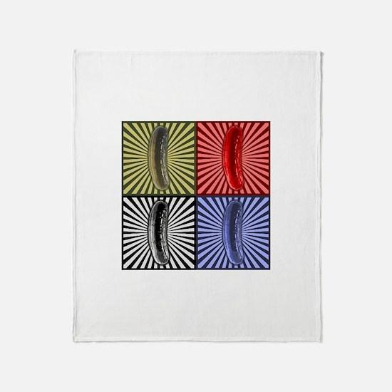 Pop Art Pickle Throw Blanket