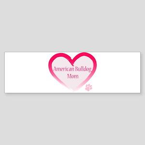 American Bulldog Mom Pink Heart Sticker (Bumper)