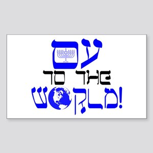 Oy to the World! Sticker (Rectangle)