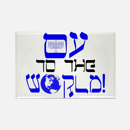 Oy to the World! Rectangle Magnet