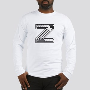 Letter Z Maze Long Sleeve T-Shirt