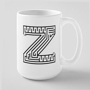 Letter Z Maze Large Mug