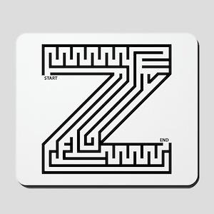 Letter Z Maze Mousepad