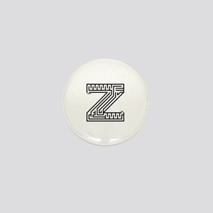 Letter Z Maze Mini Button