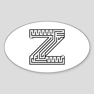 Letter Z Maze Sticker (Oval)