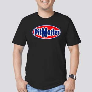 PitMaster Oval Men's Fitted T-Shirt (dark)