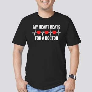 My Heart Beats For A Doctor Men's Fitted T-Shirt (