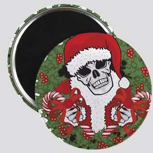 Santa Skull with Wreath Magnet