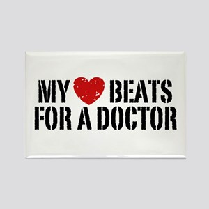 My Heart Beats For A Doctor Rectangle Magnet