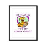 Thanksgiving Kids Framed Panel Print