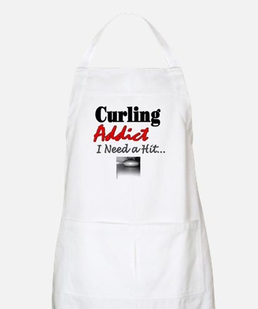 Curling Addict (Hit) BBQ Apron