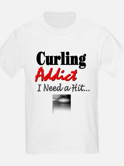 Curling Addict (Hit) Kids T-Shirt
