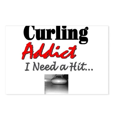 Curling Addict (Hit) Postcards (Package of 8)