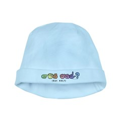 Got ASL? Pastel CC baby hat