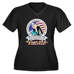 New TSA Logo Women's Plus Size V-Neck Dark T-Shirt