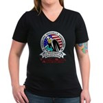 New TSA Logo Women's V-Neck Dark T-Shirt