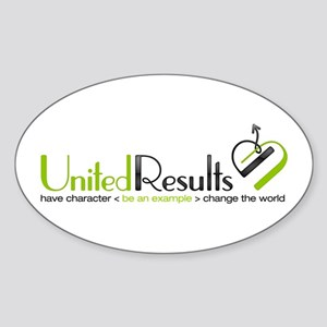 United Results Sticker (Oval)