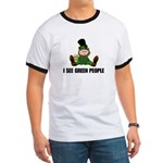 I See Green People St. Patty' Ringer T