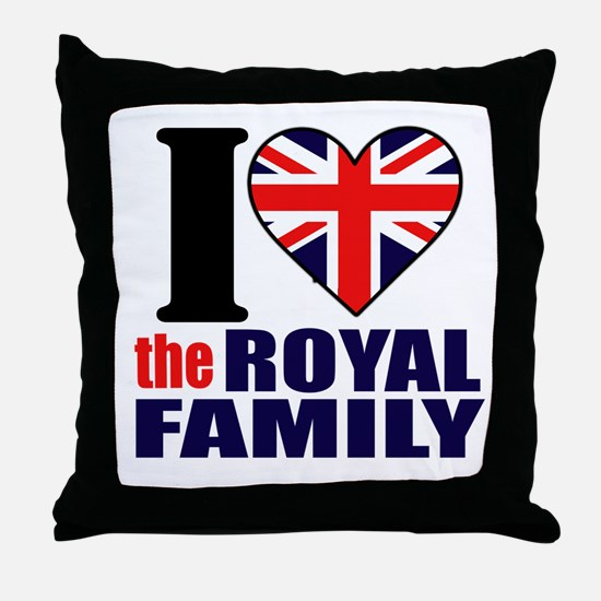 Royal Family Throw Pillow