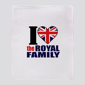 British Royal Family Throw Blanket