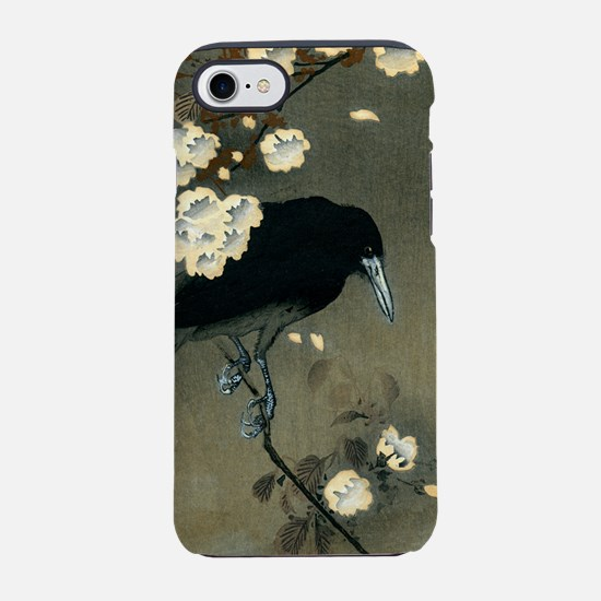 Vintage Japanese Crow and Blos iPhone 7 Tough Case