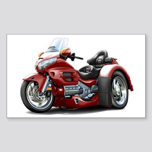 Goldwing Maroon Trike Sticker (Rectangle)