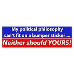 Political Philosophy Bumper Sticker