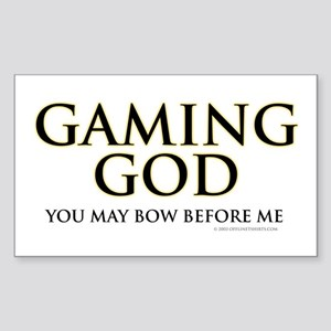 Gaming God Rectangle Sticker