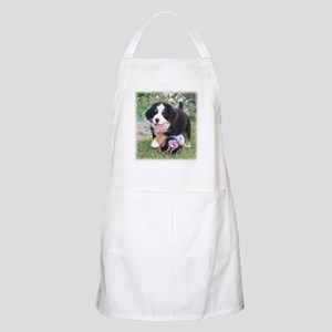 Bernese Soccer Puppy Apron