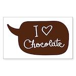 I love Chocolate Sticker (Rectangle 10 pk)
