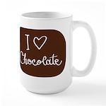 I love Chocolate Large Mug