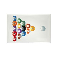 Biljart : Pool Rectangle Magnet (10 pack)