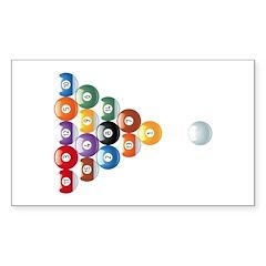 Biljart : Pool Sticker (Rectangle)