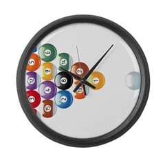Biljart : Pool Large Wall Clock