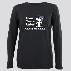 Snoopy Four Years Later Plus Size Long Sleeve Tee