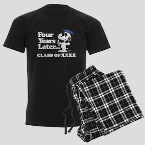 Snoopy Four Years Later Person Men's Dark Pajamas