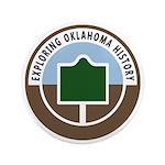 "Exploring Oklahoma History 3.5"" Button (100 p"