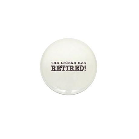 The Legend Has Retired Mini Button