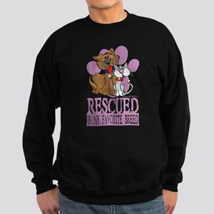 Rescued Is My Favorite Breed Sweatshirt (dark)